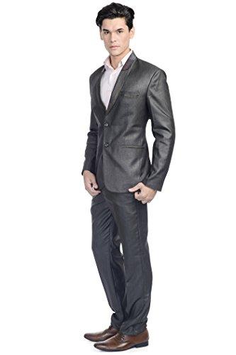 Wintage - Costume - col à revers - Manches Longues - Homme -  Noir - 48