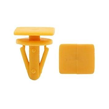 eDealMax Clips 30Pcs Naranja Interior de moldeo parachoques Fender sujetadores Remaches DE 13 mm Para el