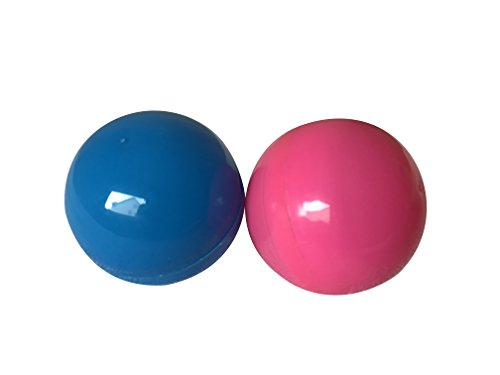50 Pink and Blue Round Balls Vending Machine Capsules, 1.5