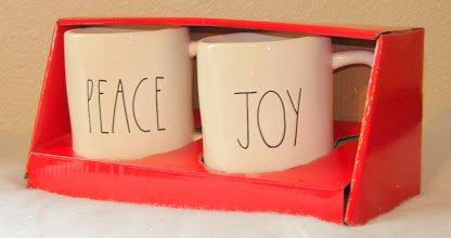 - Rae Dunn Set of 2 Mugs PEACE & JOY Artisan Collection