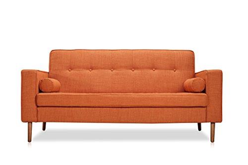 Baxter Sofa - Ceets 562-2-WALNUT-2013-15 Baxter Lounge Sofa, Orange