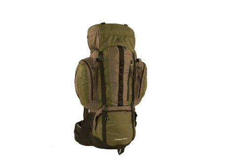 ALPS Mountaineering Cascade 5200 Nylon Ripstop Top Internal Frame Pack, Olive, Outdoor Stuffs