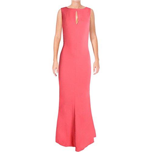 Lauren Ralph Lauren Womens Cut Out Criss Cross Back Evening Dress Pink (Ralph Lauren Pink Dress)