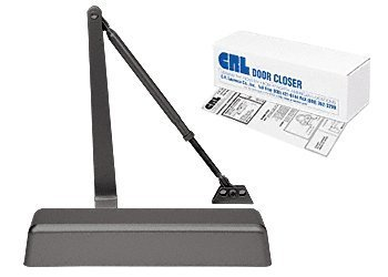 CRL PR54 Bronze Finish Adjustable Spring Power Size 2 - 5 Delayed Action Surface Mount Door Closer by C.R. Laurence