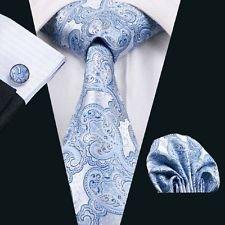 [Dan Smatree Wedding Tie Hot Selling Blue Necktie For Groom and Best Man New Paisley] (Best 50s Costumes)