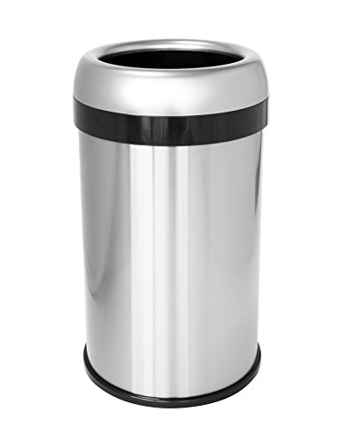 iTouchless 13 Gallon Dual-Deodorizer Round Open Top Trash...