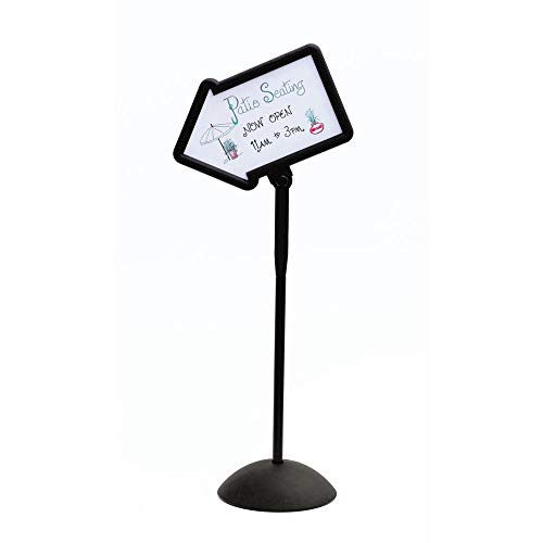 Safco Products Write Way Directional Arrow Sign 4173BL, Black, Magnetic Dual-Sided Dry Erase Board, Indoor and Outdoor Use Double Down Arrow Sign