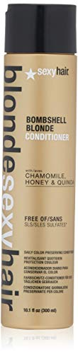(Sexy Hair Concepts Blonde Sexy Hair Sulfate-Free Bombshell Blonde Conditioner - Daily Color Preserving, Restoring Protection Infused With Chamomile Honey & Quinoa Brightens & Nourishes Hair -)