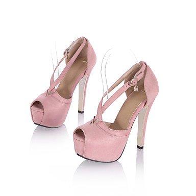 LvYuan Mujer-Tacón Stiletto-Otro-Sandalias-Oficina y Trabajo Vestido Fiesta y Noche-Vellón-Rosa Morado Bermellón Pink