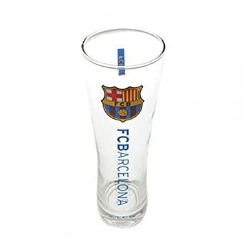 Vaso de cerveza del FC Barcelona, pinta, de cristal, para futboleros: Amazon.es: Juguetes y juegos