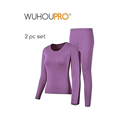 WUHOUPRO Womens Ultra Soft Thermal Underwear Long Johns with Fleece Lined at Women's Clothing store