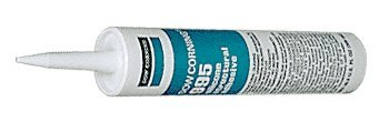 White Dow Corning 995 Silicone Structural Sealant - 12 Tubes (Case) by Corning