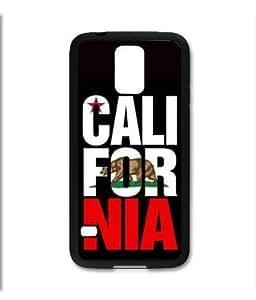 Samsung Galaxy S5 SV Black Rubber Silicone Case - Cali For Nia California Bear Flag