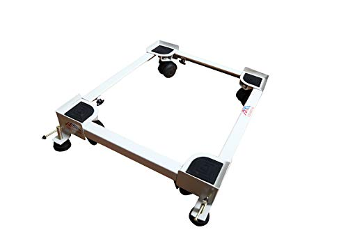 YS Adjustable Heavy Duty Front/Top Load Washing Machine/Refrigerator/Dishwasher Stand/Trolley for LG T7577NEDLK (Washing Machine Free 100g Scale Out Powder with Washing Machine Stand)