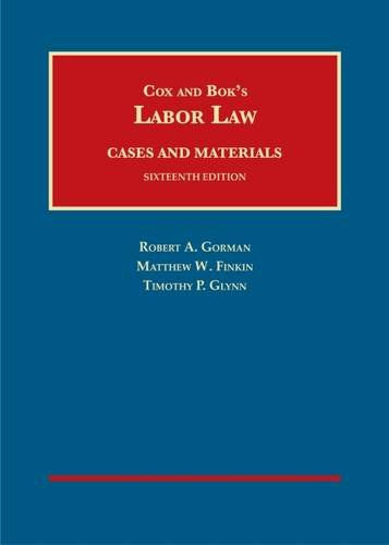 Labor Law (University Casebook Series) PDF