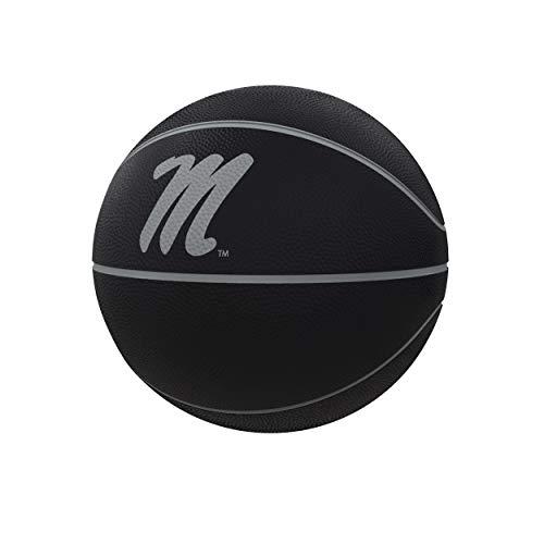 Logo Brands NCAA Mississippi Old Miss Rebels Unisex Blackout Official-Size Composite Ballcollegiate Basketball - Official-Size Blackout, Black, Official Size, Black, Official Size