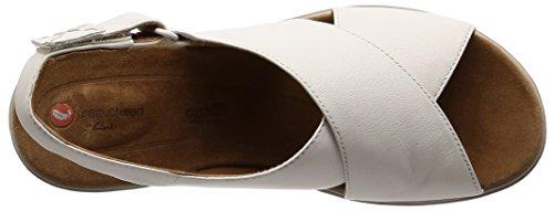 white Leather Con Un Hail Sandali Clarks Bianco Donna Alla Karely Caviglia Cinturino R1fPxO