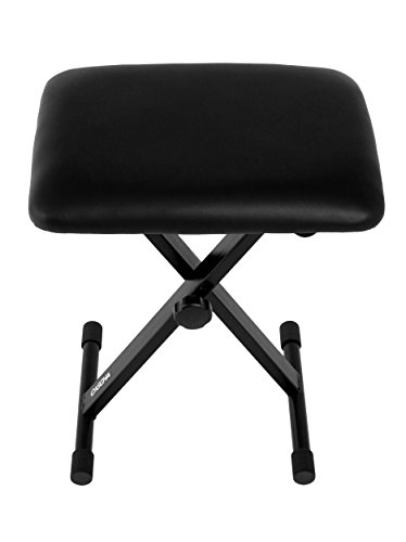 CASCHA HH 2017 Padded Keyboard Bench Height Adjustable, Foldable, Noble Leatherette