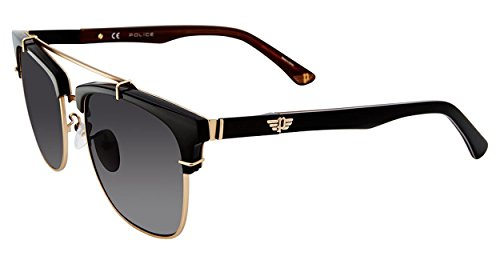 - Police Men's Spl494 Square Sunglasses, Gold, 54 mm