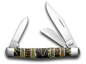 ケースXXエキゾチックブラックAztecストーンブラックリップ本真珠1 / 500 Stockmanポケットナイフナイフ B00MP1BQDW