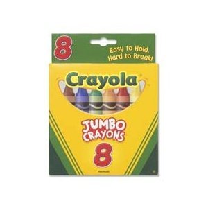 Bin389 - Crayons Jumbo 8Ct Peggable Tuck Box