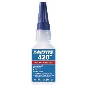 Loctite 42050 420 Super Bonder Ethyl General Purpose Instant Adhesive, 1 oz Bottle, Clear