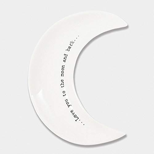 - East Of India Wobbly Porcelain Moon Keepsake Dish - 'Love You to The Moon'