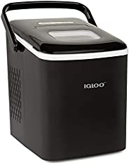 Igloo ICEB26HNBK Automatic Self-Cleaning Portable Electric Countertop Ice Maker Machine With Handle, 26 Pounds