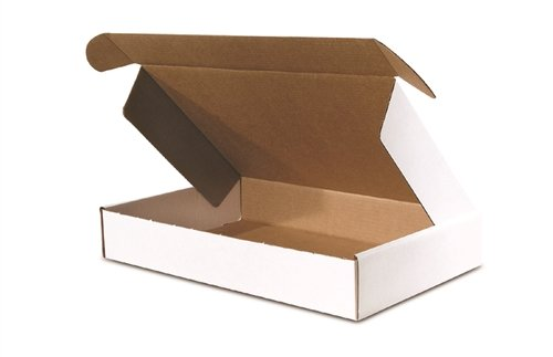 The Packaging Wholesalers 9 x 6-1/4 x 2 Inches Front Lock Deluxe Literature Mailer, 50-Count - Tab Box White