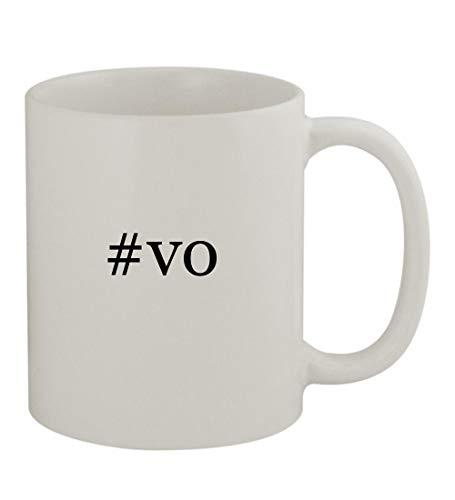 #vo - 11oz Sturdy Hashtag Ceramic Coffee Cup Mug, White