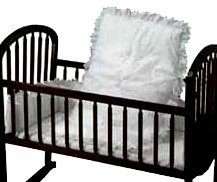 Baby Doll Bedding Carnation Eyelet Cradle Set, White by BabyDoll Bedding