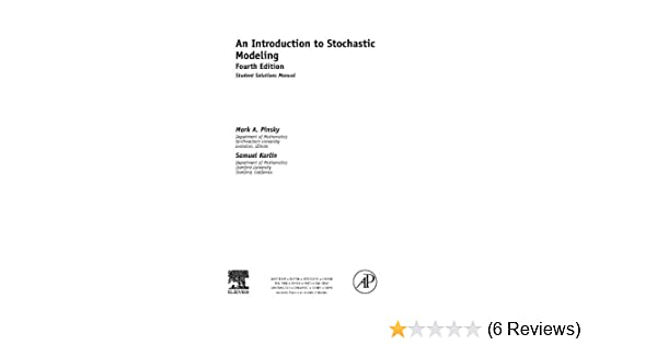 An introduction to stochastic modeling student solutions manual e an introduction to stochastic modeling student solutions manual e only mark pinsky samuel karlin amazon fandeluxe Images