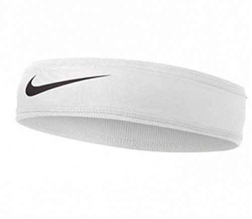 Nike Speed Performance Headband (One Size Fits Most, White/Black) by Nike (Image #1)