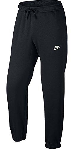 Nike Mens Sportswear Cuffed Fleece Sweatpants Black/White 804406-010 Size Small