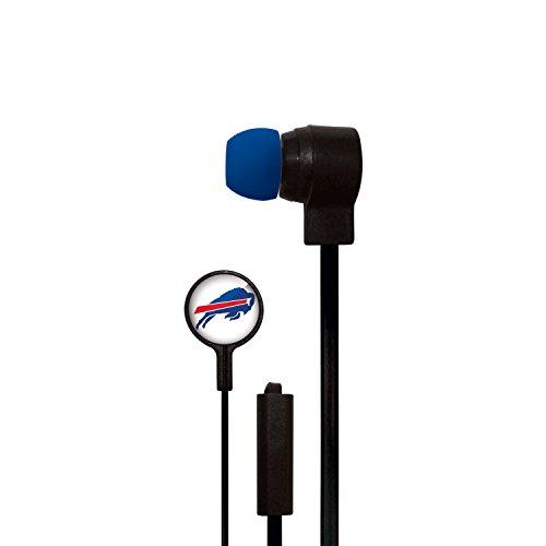 Mizco NFL Buffalo Bills Big Logo Earbuds, Small, Black