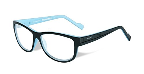 X Lenses Prescription Wiley (Wiley-X Marker Optical Safety Eyeglass Collection in Gloss-Black-Sky-Blue (WSMAR05) ; DEMO LENS)