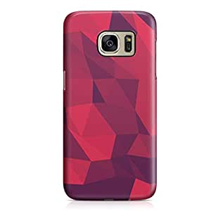 Samsung S7 Edge Case Red Shades Geomaterical Pattern Light Weight Clear Edges Samsung S7 Edge Cover Wrap Around