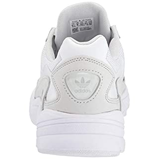 adidas Originals Women's Falcon Sneaker, White/White/Crystal White, 6.5 M US