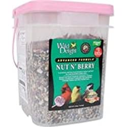 Wild Delight 382316 Nut N Berry Pail Wild Bird Food, 16-Pound