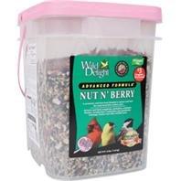 Wild Delight 382316 Nut N Berry Pail Wild Bird Food, 16-Pound Fruit Berry Nut