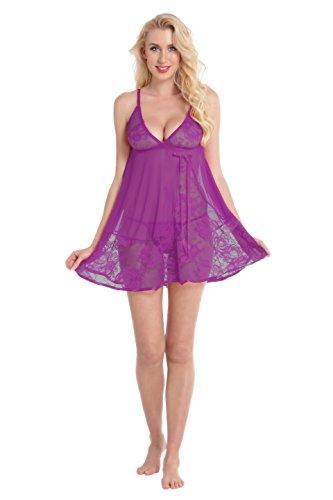 Aibrou Womens Babydoll Lingerie Sleepwear product image