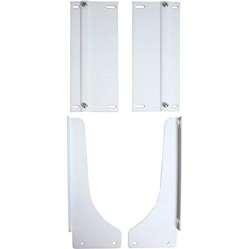 Knape & Vogt PDMKTWH Door-Mount White Bracket Kit, 17.5' by 4' by 22.5'