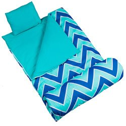 Wildkin Original Sleeping Bag, Features Matching Travel Pillow and Coordinating Storage Bag, Perfect for Sleeping On-the-Go – Zigzag Lucite