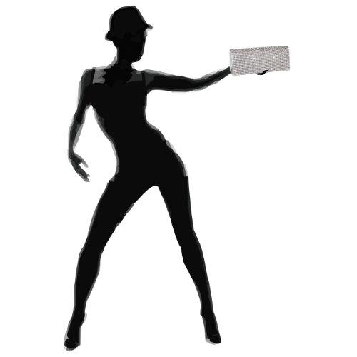 Fashion Mano De Caspar Cartera Plata Para Mujer Sdqz7waz