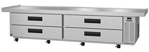 Hoshizaki CRES110, Refrigerator, Two Section Equipment Stand Prep Table, Stainless Drawers