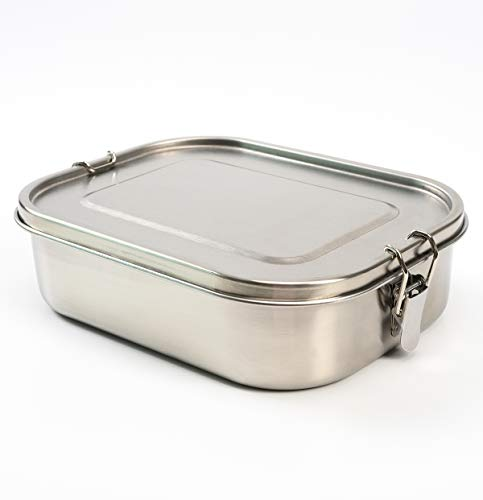 Stainless Steel Lunch Box 3 Compartment Metal Bento Lunch Box Container For Kids (47oz)