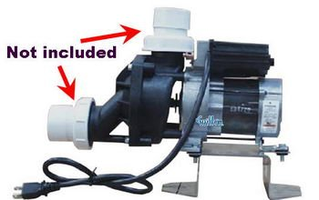 Jacuzzi DA31000;; Motor and pump 4.8a 115 vac 60hz with floor bracket; Unfinish
