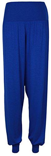 Pantalones Harem de mujeres PrettyFashion Ali Baba Larga Damas niñas pantalones holgados harén Leggings Plus Size 8-22 Azul