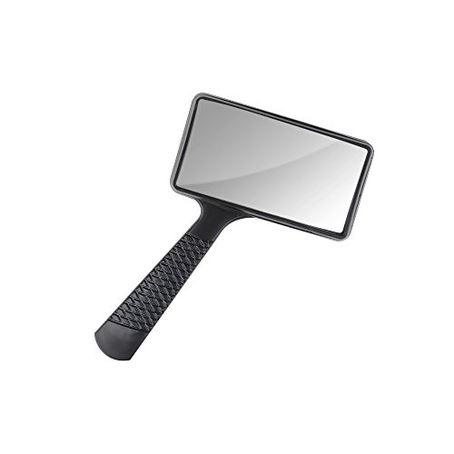 (Zhi Jin 1Pc Rectangle Handheld Magnifier Loupe Reading Magnifying Glass Lens 2X for Read Book Newspaper Inspection Office)