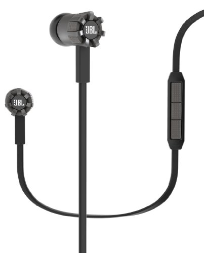 JBL Synchros S200 Premium In-Ear Stereo Headphones with Apple 3-Button Remote, Black